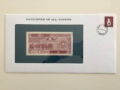 Banknotes of All Nations - Somalia 5 Shillings UNC
