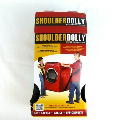 Shoulder Dolly Lifting System 800lb Capacity No Bending Over Two-Person Lifting
