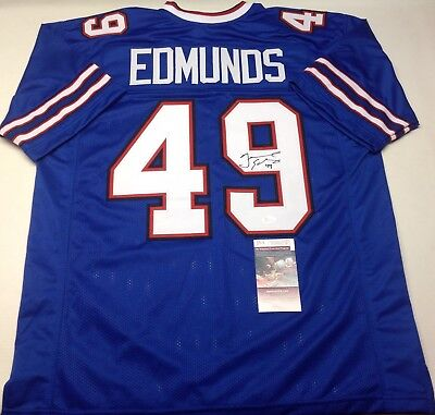 c245dcda9 Buffalo Bills Tremaine Edmunds Signed Custom Blue Jersey Jsa Coa!
