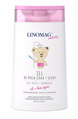 LINOMAG Gel for washing the body and head from first day of life 200ml