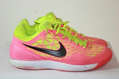 promo code 21034 2c836 Nike Zoom Cage 2 Neon Pink and Yellow Athletic Running Women s Shoe Sz 7