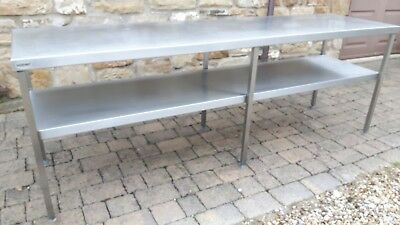Catering Table Work Bench 2400mm (L) x 650mm (w) x 860mm (h)