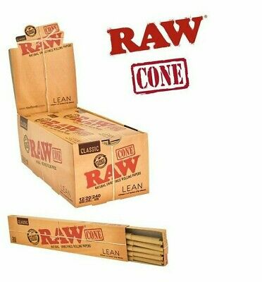 5 Pcs Raw® Lean Classic Pre Rolled Cones + 5 Pcs Doob Tube Joint Cone Holder