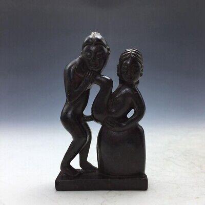 collect rare China jade statue Man & woman.  a335