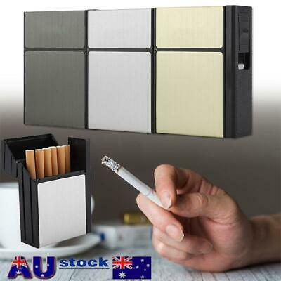 Cigarette Case Tobacco Storage Box Holder with Windproof Electric USB Lighter
