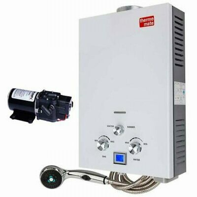 NEW Compact Portable Gas Hot Water Heater with Pump - THM-12 w/ Backlit LCD