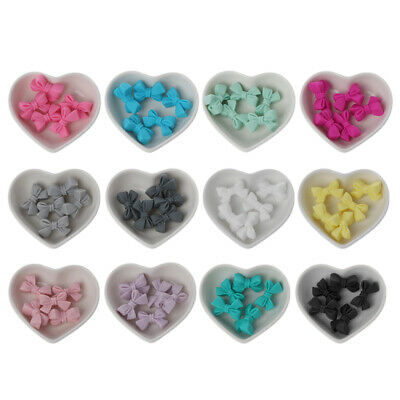5pcs Mini Silicone Bow Small Tie Beads BPA Free Silicone Beads Baby Teether DIY