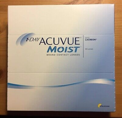 1 Day ACUVUE Moist D -2.00  90 pieces