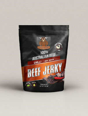 Beef Jerky Chilli 100G West Australian Outback Premium Beef Factory Fresh
