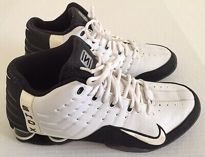 low priced 3c3f0 f044e NIKE Shox Elevate White Black Training Basketball Shoes Mens Sz 10.5  309181-111