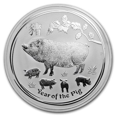 2019 ~ KILO ~.9999 SILVER ~ LUNAR YEAR of the PIG ~ PERTH MINT ~CAPSULE~ $678.88
