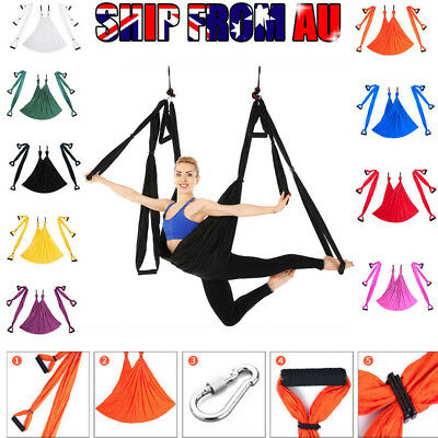Aerial Yoga Hammock Home Gym Invertion Anti-Gravity Sling Swing Trapeze Fitness