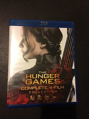 The Hunger Games Complete 4 Film Collection Blu-ray - Like New