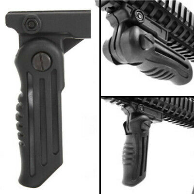 Folding Fore Rifle Grip Tactical Foldable Gun Hunting Grip w/ 20mm Rail Mount