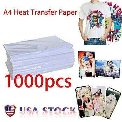 1000 Sheets A4 Dye Sublimation Heat Transfer Paper for Mug Cup Plate T- Shirt BP