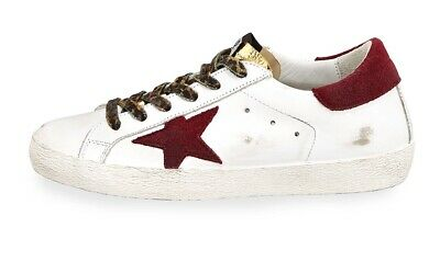 30132b9ff37 GOLDEN GOOSE SUPERSTAR Mixed Lace-Up Sneakers 37 -  250.00