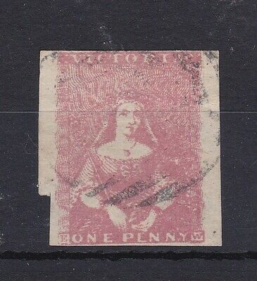 V132) Victoria 1854 1d Half Length Pink, SG28. Campbell and Fergusson Printing