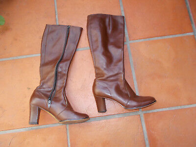 Ladies Leather Boots - brown - size 8 - Made In Australia - Sandler