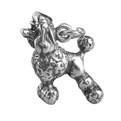 Poodle Charm .925 Sterling Silver Dog Breed Pendant