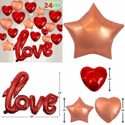 Valentines Day Decoration Foil Large Size Balloons Red Love Letter Party Favor
