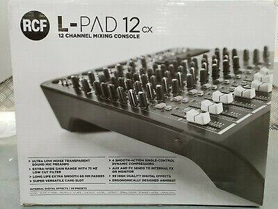 Rcf Lpad 12Cx 12 Input Mixing Console With Fx. New. Free Freight