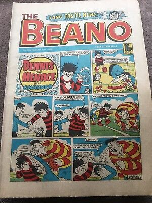 Beano 2302c August 30th 1986 with Dennis the Menace.