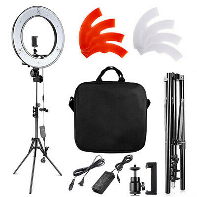 """18"""" inch SMD LED Ring Light Dimmable 5500K Continuous Lighting Photo Video Kit"""