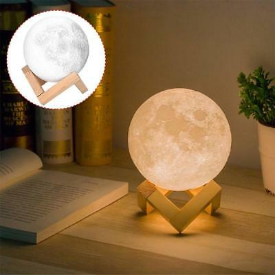3D Moon Lamp Base For Night Light Moonlight Gift Touch Sensor Color Changing UP
