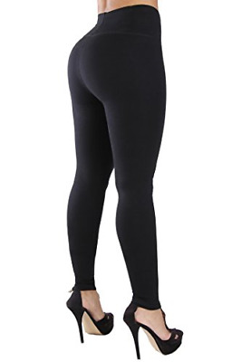 f59a40482344f2 Curvify Womens Faux Leather Leggings, Butt Lifting Thigh Slimmers with High  Rise
