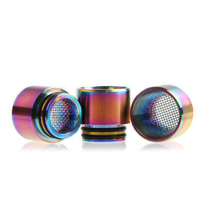 Wide Stainless Anti Spit Filter Screen 810 Drip Tip For FreeMax Fireluke mesh