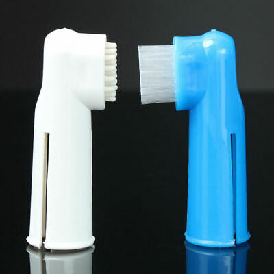 2pcs Finger Toothbrush Pet Dog Cat Oral Dental Cleaning Reduce Plaque Brush new