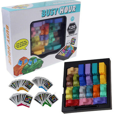 Fun Rush Hour Traffic Jam Logic Game Toy for Boys Girls Puzzle Game Classic Toy
