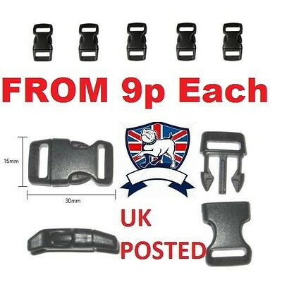 CONTOURED QUICK RELEASE BUCKLE CLIP 10mm 3/8 UK POST -PARACORD BRACELET SURVIVAL