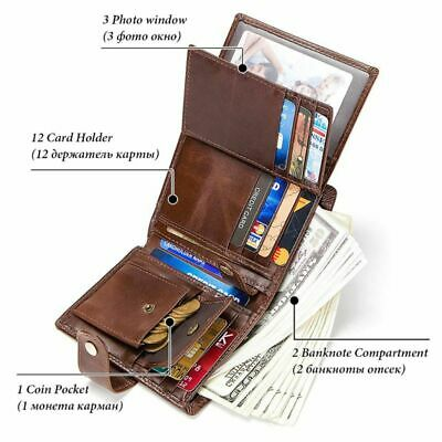 Smart Wallet RFID Leather with Alarm GPS Map Bluetooth Taking Photo Record Purse
