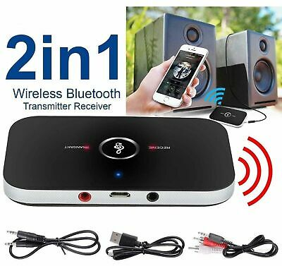 2in1 HIFI Wireless Bluetooth Audio Transmitter Receiver RCA Music Adapter 3.5MM