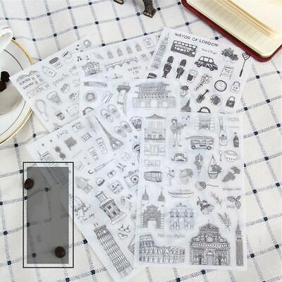 6pcs/lot Diary Decoration Scrapbooking Transparent Stationery Planner Stickers