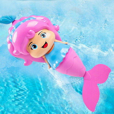 Baby Kids Mermaid Clockwork Dabbling Bath Toy Classic Swimming Water Wind Up OD