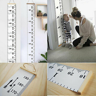 Room Decor Wall Hanging Measure Wooden Kids Growth Height Chart Ruler For Kids