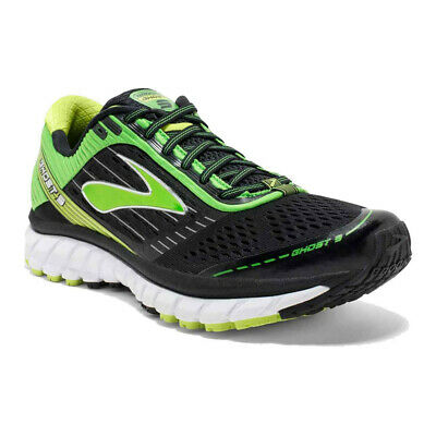85c27dba52bf7 Brooks Mens Ghost 9 Running Shoes Trainers Sneakers Black Green Sports