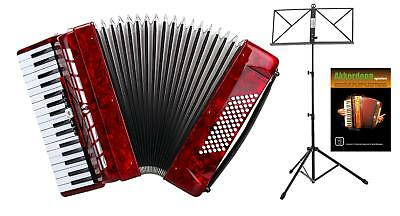 Accordeon 72 Clavier Basse 34 Cles Treble 3 Registres Set Sangle Étui Pupitre