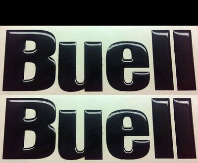 2 Adhesives Resin Sticker 3D BUELL Tank all colours also chrome