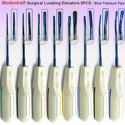 Dentists Root Elevators Oral Surgery Extraction Luxating Veterinary+Cassette 8pc