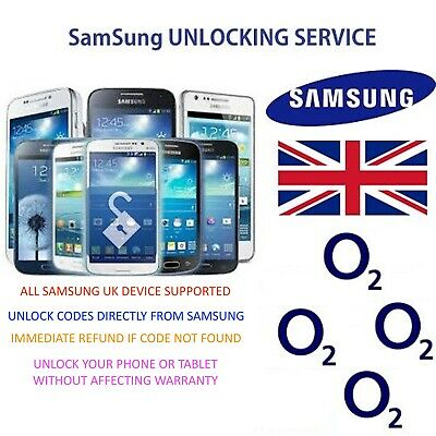 Unlock Code Samsung Galaxy S5 S6 S7 A3 A7 J5 J7 All Models from O2 UK Network