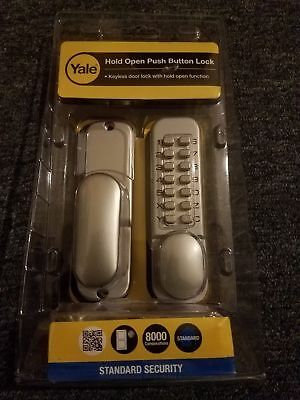 Yale Locks YALPDL02SC P-DL02-SC Push Button Door Lock Chrome Finish Hold Open