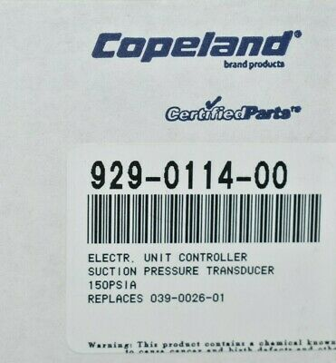 Copeland 929-0114-00 Electronic Unit Controller Suction Pressure Transducer