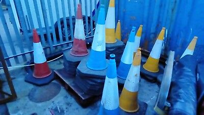 used road traffic cones jsp yellow red blue