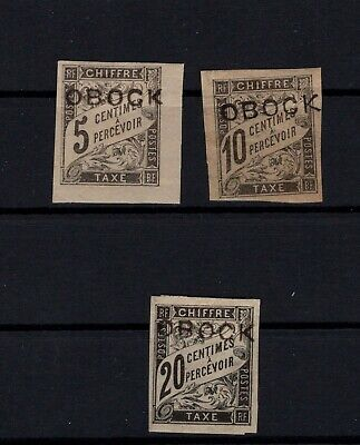 P105497/ Obock / Postage Due / Maury # T9 - T10 - T12 Neufs * / Mint Mh 105 €