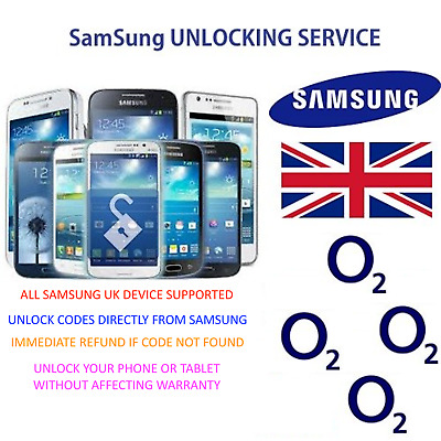 Unlock Code For Samsung Galaxy Note 2 3 4 5 8 S6 S7 S8 Plus - O2 UK Network