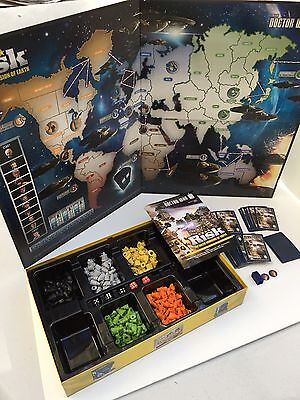 RISK Doctor Who The Dalek Invasion of Earth Board Game Dr. Who BBC Hasbro 2014