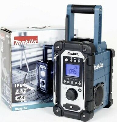 Makita Dmr107 Jobsite Radio Am/Fm Compatible With Lxt & Cxt Batteries Brand New